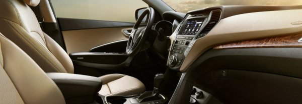 The interior of the 2018 Hyundai Santa Fe Sport
