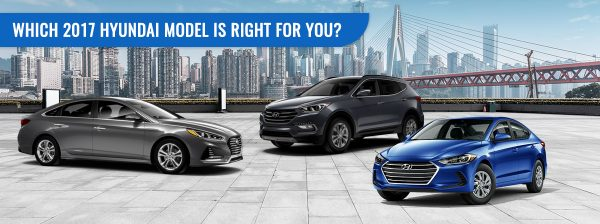 The 2017 Hyundai Elantra, Santa Fe Sport, and Sonata