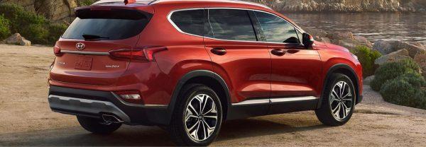 2020 Hyundai Santa Fe red SUV